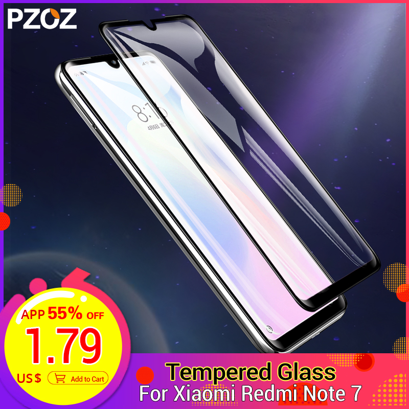 PZOZ For Redmi Note 7 Glass Fully Covered Tempered Protective Film For Xiaomi Mi 9 A2 Lite Glass Redmi 4X 5 Plus K20 Note 8 Pro