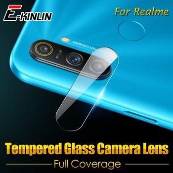 Перейти на Алиэкспресс и купить Прозрачная задняя камера из закаленного стекла для OPPO Realme C3 C3i C2 Narzo 10 10A Global Rear Camera len Защитная пленка для экрана