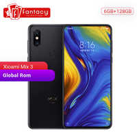 "Global Rom Xiaomi Mi Mix 3 6GB 128GB Snapdragon 845 6.39"" AMOLED Full Screen 19.5:9 24MP 2 Back 2 Front Camera Mobile Phone"