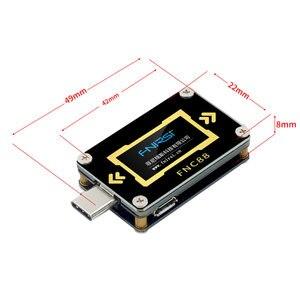 Image 4 - FNC88 Type C PD trigger USB C Voltmeter ammeter voltage 2 way current meter multimeter PD charger battery USB Tester
