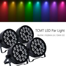 4Pcs 18x10W LED Stage Washer RGBWA UV 6in1 Live Show Par Light DMX Concert Party cher live in concert