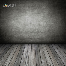 Laeacco Gradient Dark Wall Wooden Floor Portrait Pet Photography Backgrounds Customized Photographic Backdrops For Photo Studio
