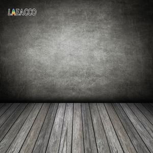 Image 2 - Laeacco Gradient Màu Xi Măng Tường Gạch Sàn Gỗ Chụp Ảnh Phông Nền Chụp Ảnh Nền Grunge Chân Dung Photozone
