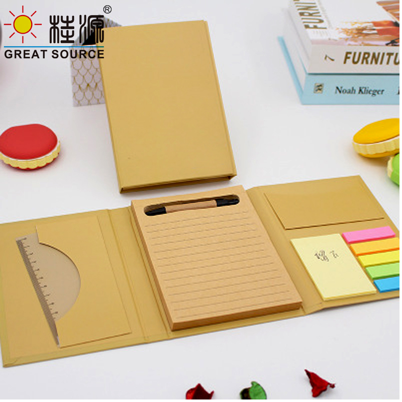 Compose Memo Pad Set Kraft Planner Color Stickers Pen Eraser Note Sticker Gift Set(10 Sets)
