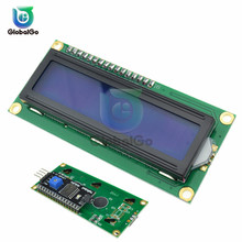 LCD1602 1602 LCD Module Blue Yellow Green Backlight LCD Screen Display With Adapter IIC I2C Interface 5V for arduino цена 2017