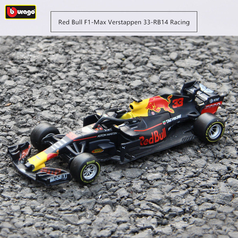 Burago 1:43 <font><b>2018</b></font> RED BULL-RB14 Alloy <font><b>F1</b></font> car model die-casting model car simulation car decoration collection gift toy image