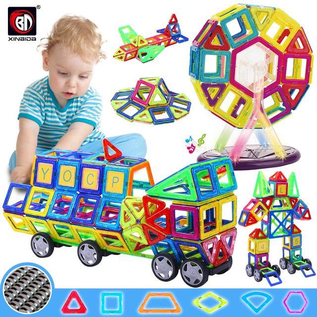 גדול גודל מגנטי מעצב בנייה סט דגם & בניין צעצוע מגנטים מגנטי בלוקים צעצועים חינוכיים לילדים