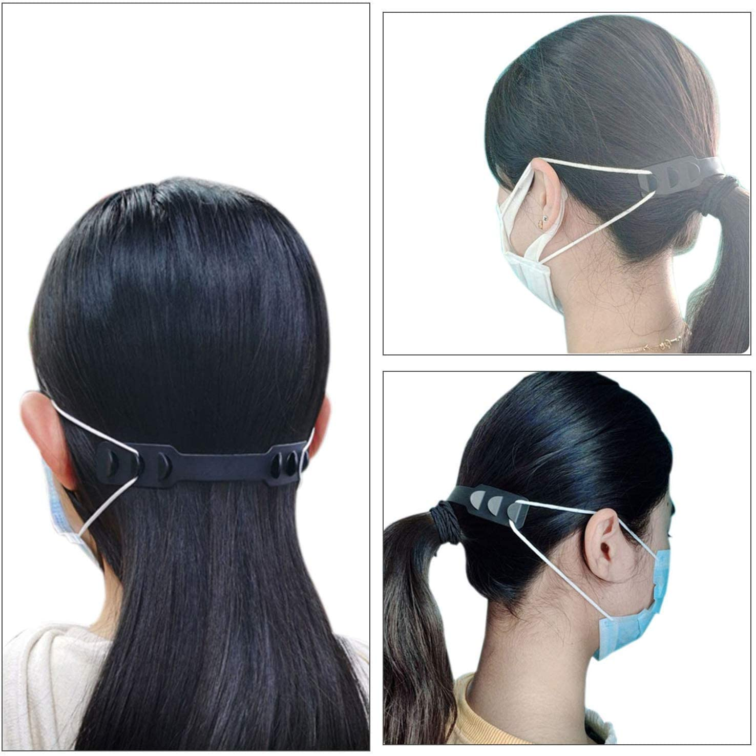 5 Pcs / Set Of Soft Mask Adjustable Ear Hook Buckle Child Adjustable Ear Pain Fixer Disposable Mask Anti-flu Anti-virus Mask