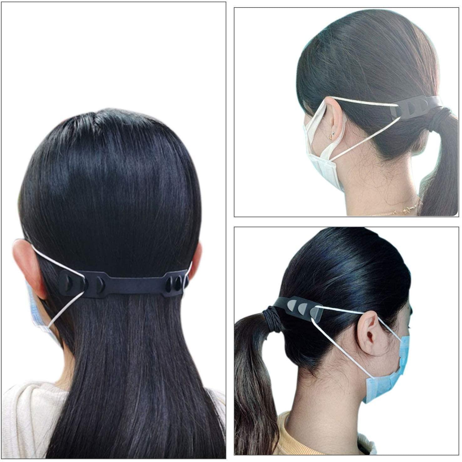 5 Pcs / Set Of Soft Mask Adjustable Ear Hook Buckle Child Adjustable Ear Pain Fixer Disposable Mask Anti-flu Anti-virus Mask