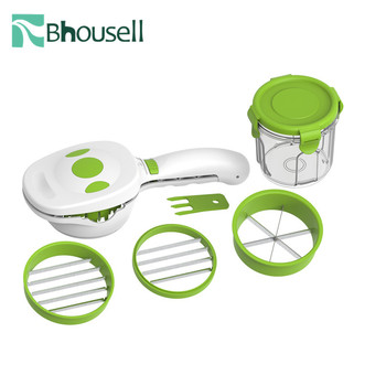 2020 5-in-1 Nicer Quick Dicer Fruit Vegetable Cutter Set Stainless Steel Chopper Slices Slicer Kitchen Gadgets and Accessories image