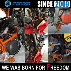 Image 2 - אופנוע דוושה שאר רגל יתדות עבור KTM SX 85 XC 525 125 EXC 200 250 FREERIDE 690 950 990 1050 1090 1190 1290 סופר הרפתקאות