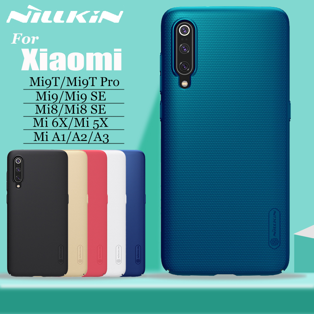 Para Xiao mi mi 9 8 SE 9T Pro Case Capa Nillkin Escudo Fosco Caso Cobertura Completa para Xiao mi mi mi 9 8 SE mi 9T 6X 5X A3 A2 A1 Shell