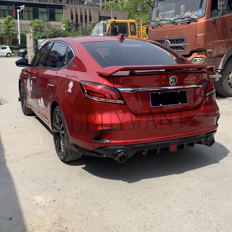 For MG 6 <font><b>MG6</b></font> 2017 2018 <font><b>2019</b></font> ABS Plastic Primer Color Exterior Rear Spoiler Tail Trunk Boot Wing Decoration Car Styling image