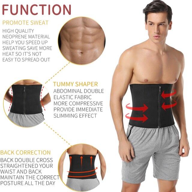 Men Waist Trainer Slimming Body Shaper Weight Loss Shapewear Modeling Belt Belly Shapers Sweat Trimmer Belt Reducing Slim Girdle 1
