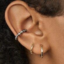 Fashion Cuff Earrings Vintage Pearls Circle Ball Shaped Fake Ear Cuffs For Women