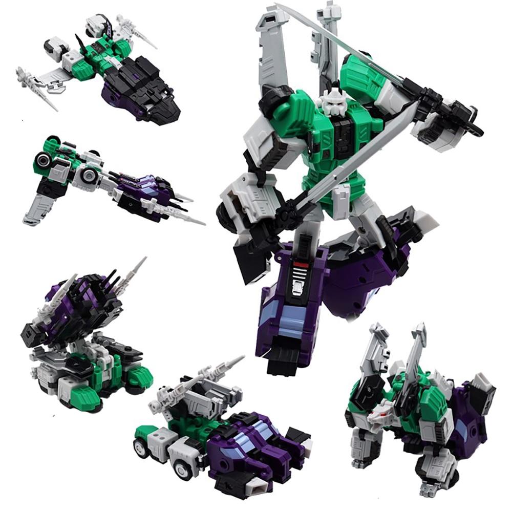 MFT MF27G MF-27G Transformation Action Figure Toy Sixshot G1 Movie Model PVC 14cm MF27 Deformation Car Robot Six Forms Figma