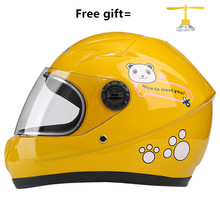 Motorcycle Helmet kids Moto Ear Personality Full Face Motor 5 Colors Pink Yellow Black White