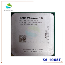 AMD Phenom X6 1065T X6 1065T 2.9GHz altı çekirdekli İşlemci HDT65TWFK6DGR 95W soket AM3 938pin