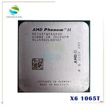 Процессор AMD Phenom X6 1065T, процессор с шестиядерным процессором 2,9 ГГц, разъем 95 Вт, AM3 938pin, HDT65TWFK6DGR