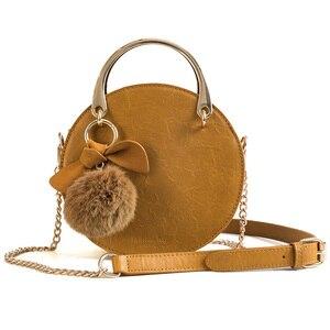 Мини Круглые сумки для женщин 2021 винтажная дамская сумка на плечо сумка высокого качества из искусственной кожи дизайнерская сумка через плечо для девушек кошелек