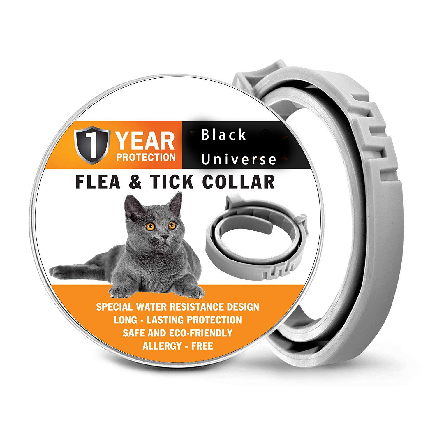 New Pet To Flea Neck Ring Dog Cat Lice Mosquitoes Worm Waterproof Deodorizing Natural Essential Oil 8 Months Protection