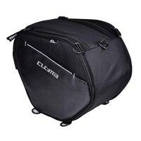 Motorcycle Seat/Tail Bag Saddlebags Waterproof Luggage Carry Pouch Helmet Storage Bag Riding Backpack, 25 Liters, Black