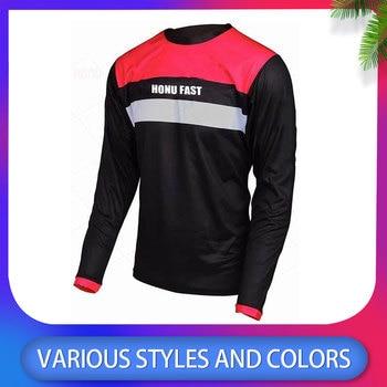 HuanGe-Camiseta de ciclismo para hombre, maillot de manga larga dh abajo, camisetas...