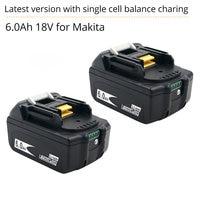 BL1860 18V 6A Li-Ion Utensili Elettrici Ricaricabile Batteria Per Makita BL1830 BL1840 BL1850 CON IL nuovo SINGOLO Bilanciamento del Cellulare di Protezione