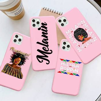 2bunz Melanin Poppin Aba black girl Phone Case Candy Color for iPhone 6 7 8 11 12 s mini pro X XS XR MAX Plus image