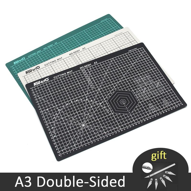 A3 tapis de coupe PVC Double face auto-guérison papier coupe conseil Patchwork sculpture tampon outils de bricolage fournitures de découpe de bureau