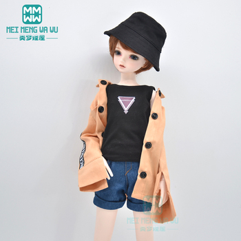BJD doll clothes Commuting shirt coat, denim shorts for 40-45cm 1/4 BJD MSD MYOU doll accessories [wamami] 50 white chest op sweater tight knitwear for 1 4 msd dod bjd girl doll