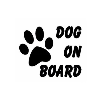 Cute Dog on Board Car Sticker Car-Styling Pet Footprint Paw Puppy Reflective Stickers Decals Car Styling Accessories image