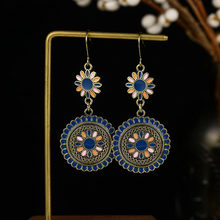 VKME retro ethnic style pendant earrings earrings female jewelry bohemian national style fashion hollow earrings gift(China)