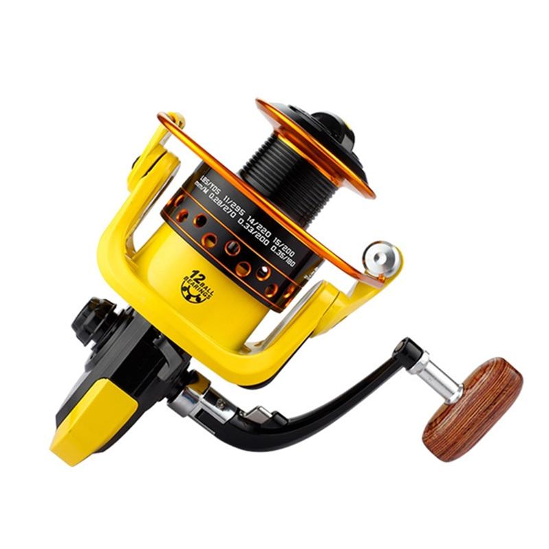K8356 Spinning Fishing Reels G-Ratio 5.1:1 5.2:1 1000-7000 Metal Line Cup Bait Folding Handle Rocker Carp Fishing Spinning Wheel