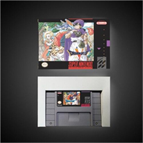 Dragon Quest batería RPG con 5 tarjetas de juego, versión estadounidense, caja de venta al por menor