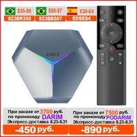 2021 VONTAR A95X F4 Amlogic S905X4 RGB Light TV Box Android 10 4G 64GB 128GB 32GB Wifi 8K Youtube Media Player A95XF4 2GB 16GB