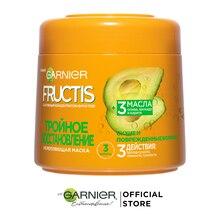 """Garnier Fructis Маска для волос """"Фруктис, Тройное Восстановление"""", для поврежденных и ослабленных волос, 300 мл"""