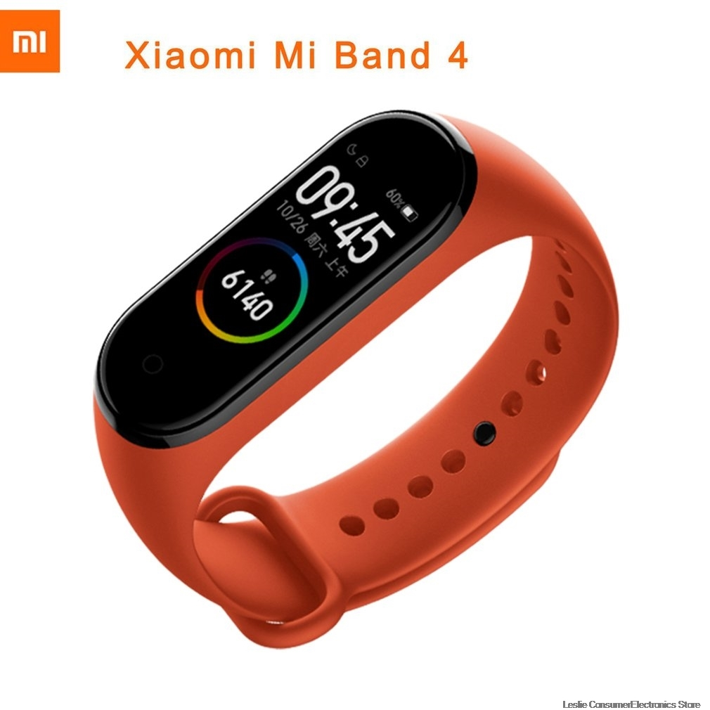 2019 Original Xiao mi bande 4 Smart kleur écran brassard Hartslag Fitness Zwemmen mi Ng waterdicht 135mAh bluetooth 5.0 50M