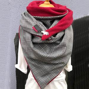 Warm Scarves Shawls Comfortable Casual Fashion Soild-Dot Women Printing-Button Soft-Wrap