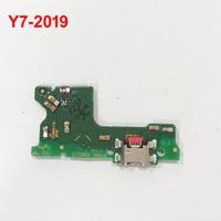Para HUAWEI Y7 2019 Y7-2019 Carregador USB Original Placa de Conector de Porta Doca de Carregamento USB Porto Flex Cable