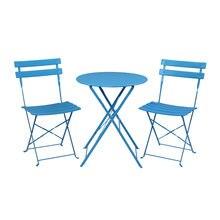 Железный Складной Комплект из трех предметов 2 стула 1 стол