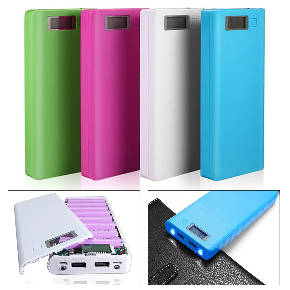 Portable treasure charging Portable LCD Empty LCD Screen Cabinet DIY 18650 Battery Case Power Banks Mobile Box