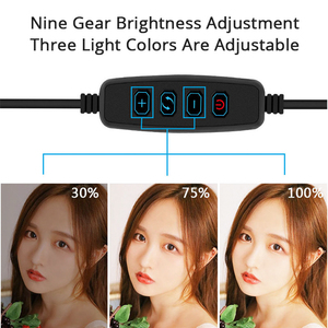 Image 5 - Photography LED Selfie Ring Light 26cm/16cm Dimmable 10inch USB Camera Phone Studio Ring Lamp With Tripods For Makeup Video Live