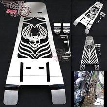 Crânio da motocicleta polido aço inoxidável radiador do motor capa grill guard protector para yamaha road star xv1600 xv1700 99-14