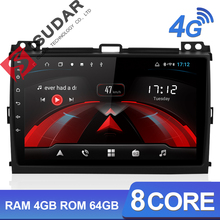 Isudar H53 4G Android 1 Din Auto Radio For Toyota/Prado 120 2004-2009 Car Multimedia GPS 8 Core RAM 4GB ROM 64GB Camera DVR 4G цена и фото