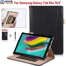 Samsung Galaxy Tab için bir kılıf standı S5E SM T720 T725 Tablet kapak için Galaxy Tab 10.5 2019 Funda el tutucu cep