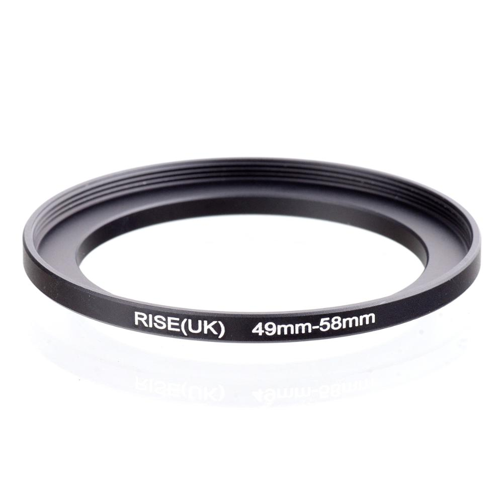 RISE(UK) 49mm-58mm 49-58 Mm 49 To 58 Step Up Filter Ring Adapter
