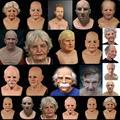 HobbyLane Косплей лысая маска на лицо для пожилых женщин маска на лицо для Хэллоуина вечерние ринки карнавала реквизит маска на все лицо