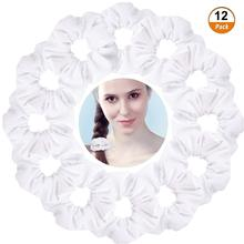 Hair Accessories 12 Pieces White Velvet Scrunchies Elastics Scrunchy Bobbles Soft Bands Ties