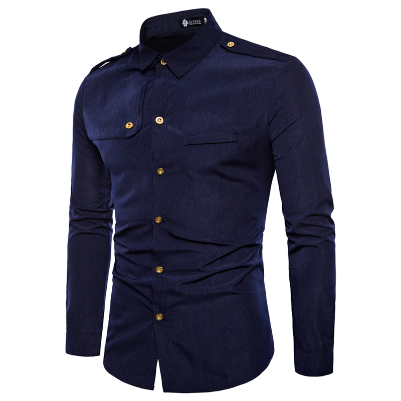 ZUSIGEL Single Breasted White Shirt New Autumn Turn down Collar Black Cargo Shirt Casual Slim Fit Long Sleeve Men Shirts in Casual Shirts from Men 39 s Clothing